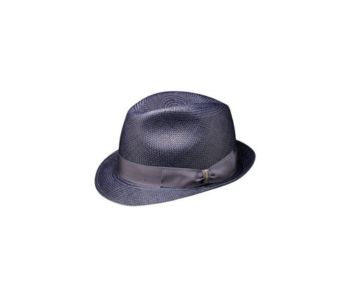 Colourful panama Trilby hat.