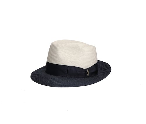 Medium Brim Two-tone Woven Hemp