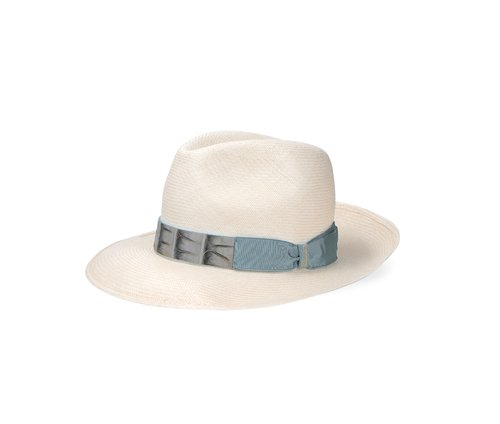 Wide-brim Extra-fine Panama  with Caiman band