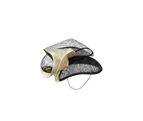 Sisal netting hair fascinator