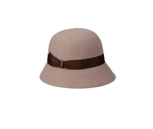 Brushed felt Cloche hat
