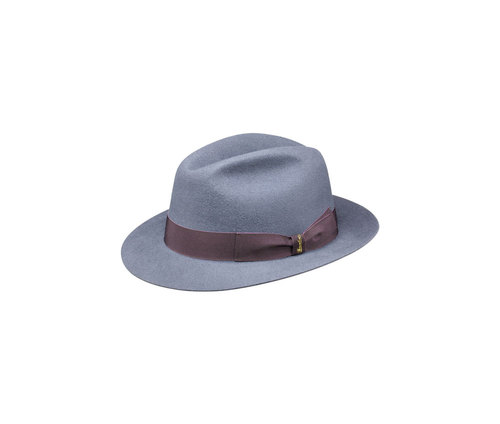 Brushed felt hat with medium brim