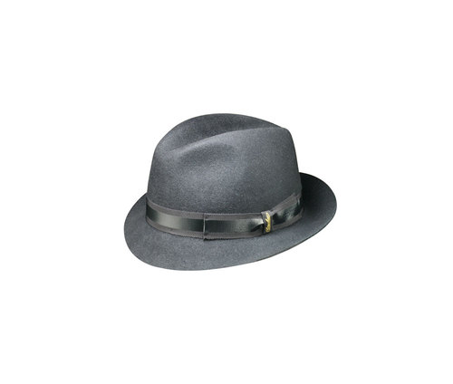 Coated brushed felt Trilby hat
