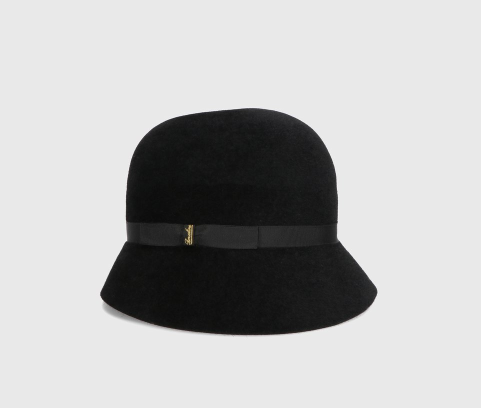 Velour Cloche hat