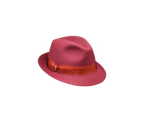 Brushed felt Fedora hat