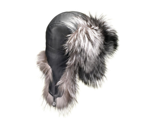 Fox fur aviator hat