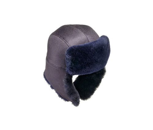 Mink fur aviator hat