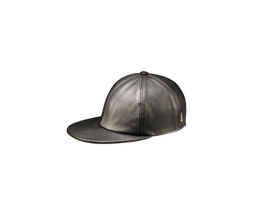 Leather baseball cap
